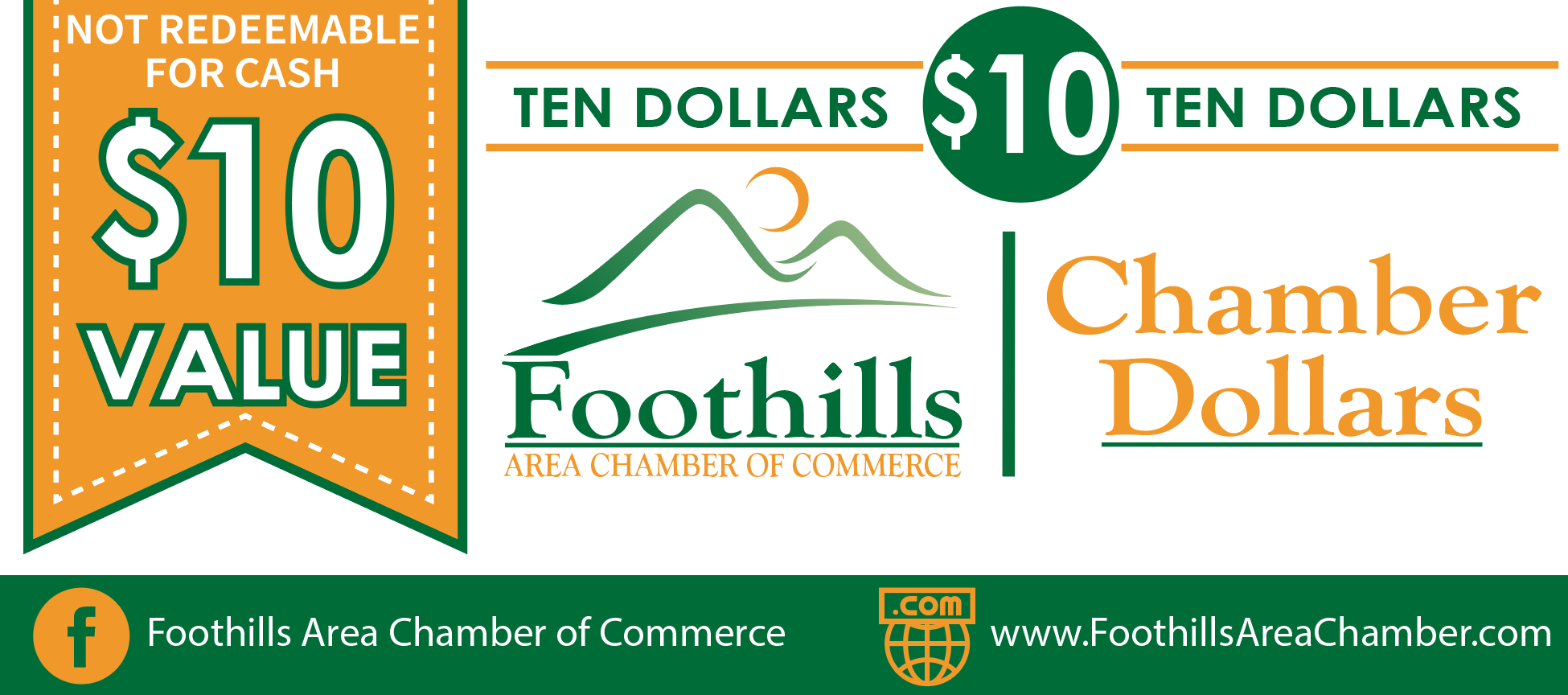 Foothills Area Chamber of Commerce Chamber Dollars